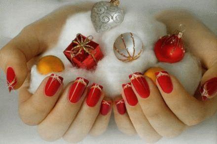 Новогодний модный маникюр от Лены Лениной